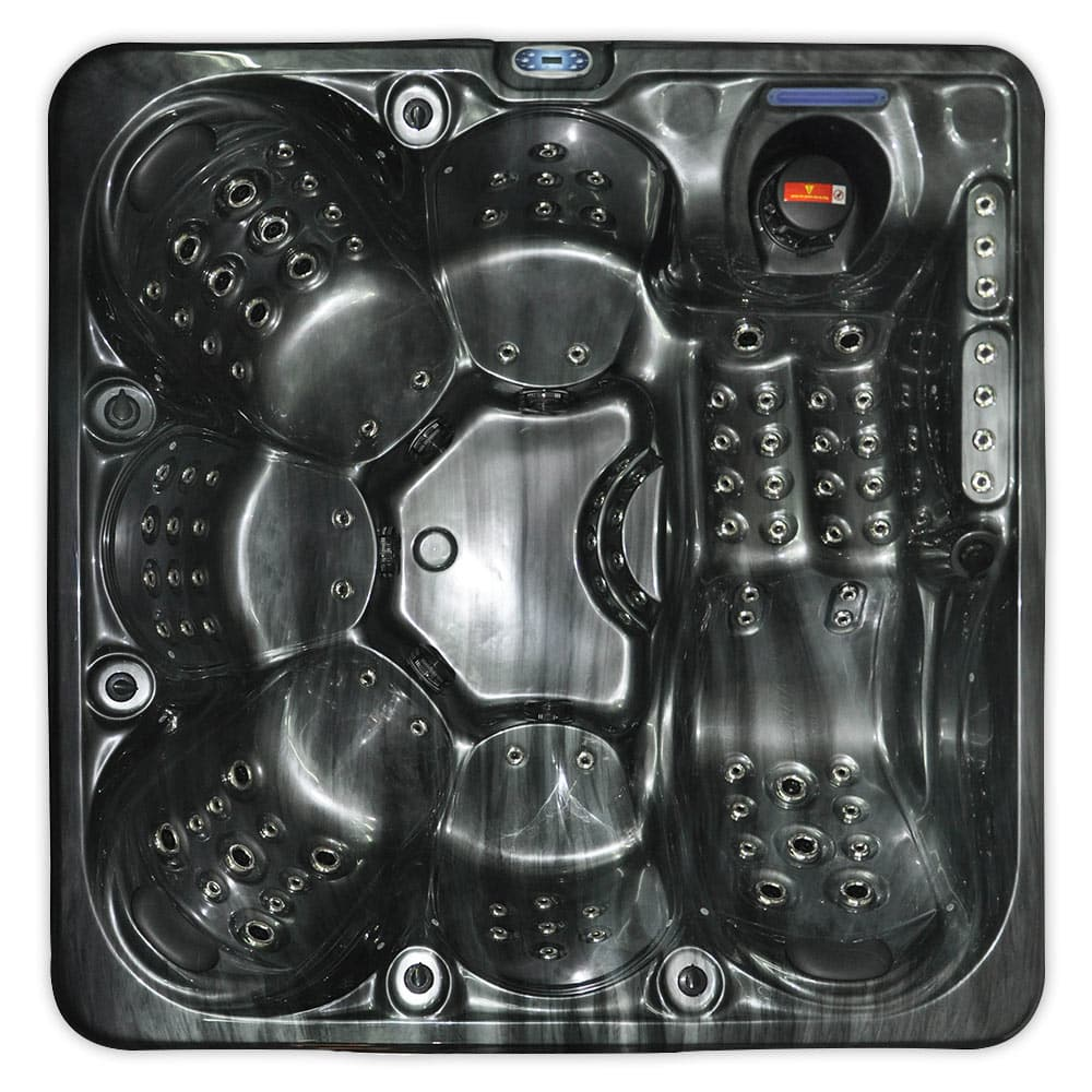 Jewel Stream Black - 6 person hot tub - top view image